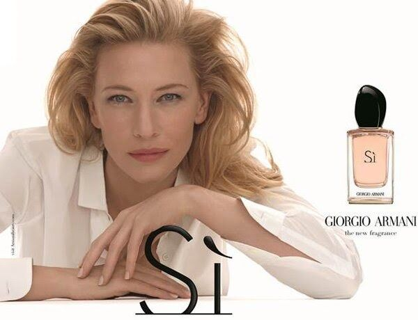 Кейт Бланшетт в рекламной кампании нового аромата Giorgio Armani Si