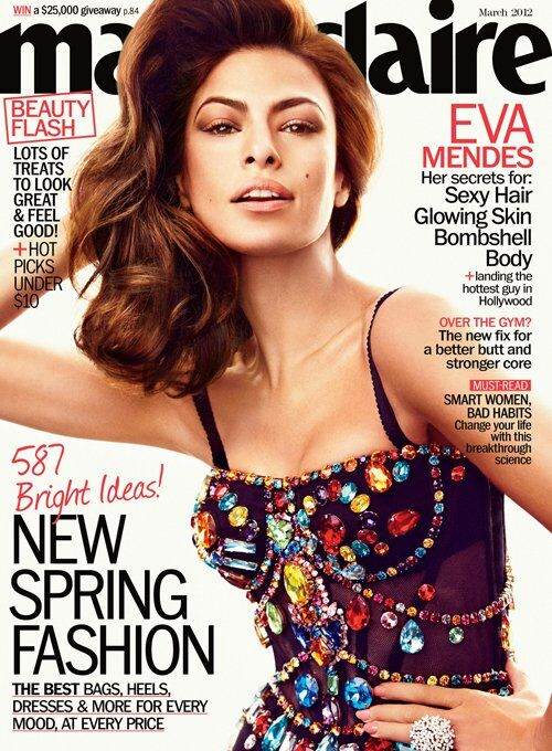 Ева Мендес в журнале Marie Claire. Март 2012