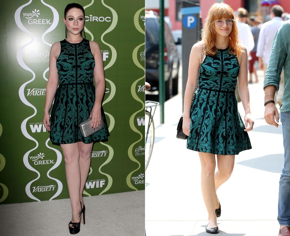 Fashion battle: Мишель Трахтенберг и Джессика Честейн