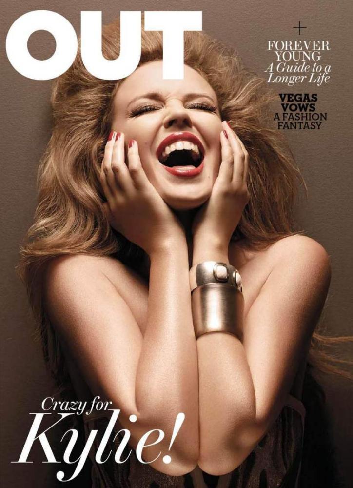 Кайли Миноуг в журнале OUT. Август 2010