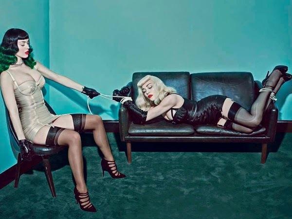 Мадонна и Кэти Перри в журнале V Magazine. Лето 2014