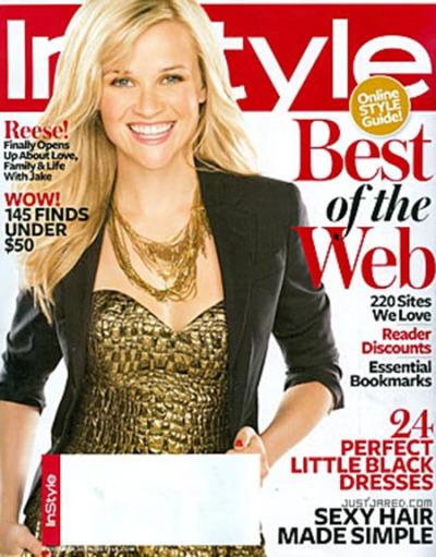 Риз Уизерспун в журнале InStyle. Ноябрь 2009