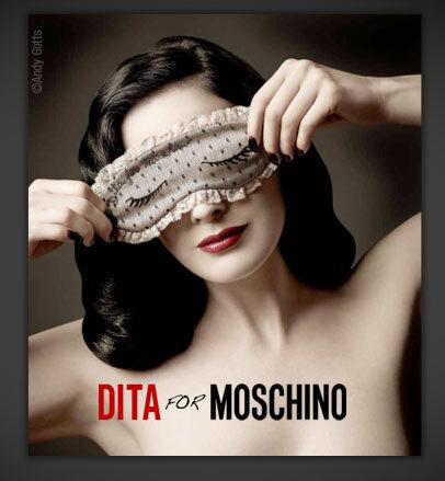 Дита фон Тиз создала дизайн масок для Moschino