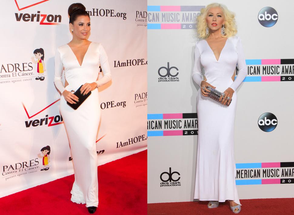 Fashion battle: Ева Лонгория и Кристина Агилера