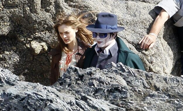 Первые кадры со съемок «Мрачных теней» Тима Бертона
