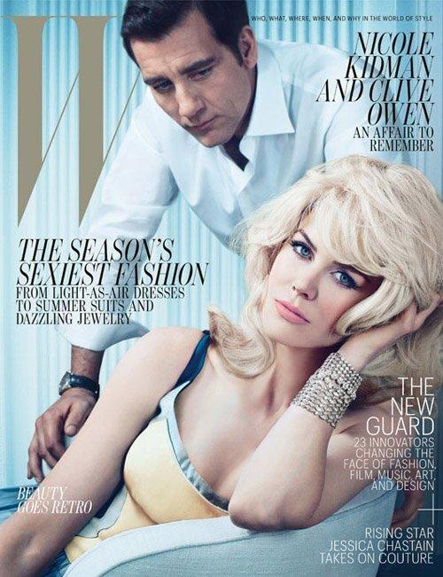 Николь Кидман и Клайв Оуэн в журнале W. Май 2012