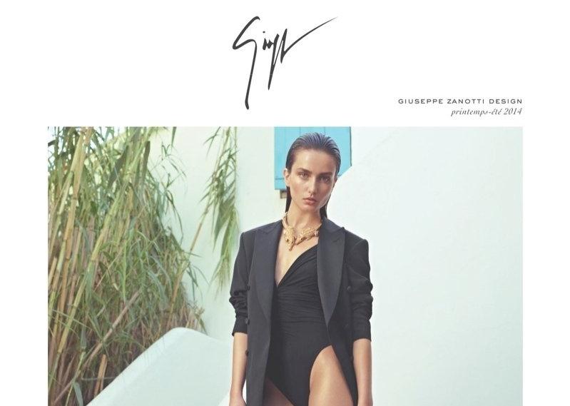 Рекламная кампания Giuseppe Zanotti. Весна-Лето 2014