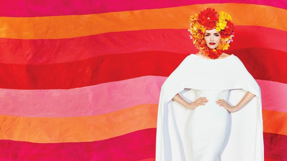 Лидия Херст представила смелые свадебные образы в журнале Martha Stewart Weddings