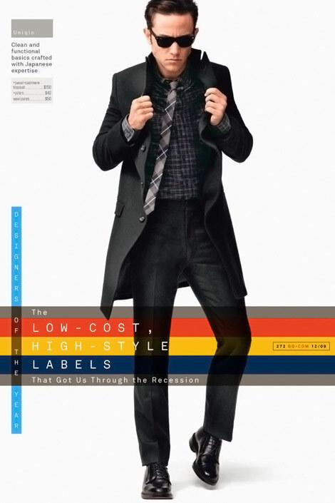Джозеф Гордон-Левитт в журнале GQ. Декабрь 2009 и Nylon Man. Сентябрь 2009