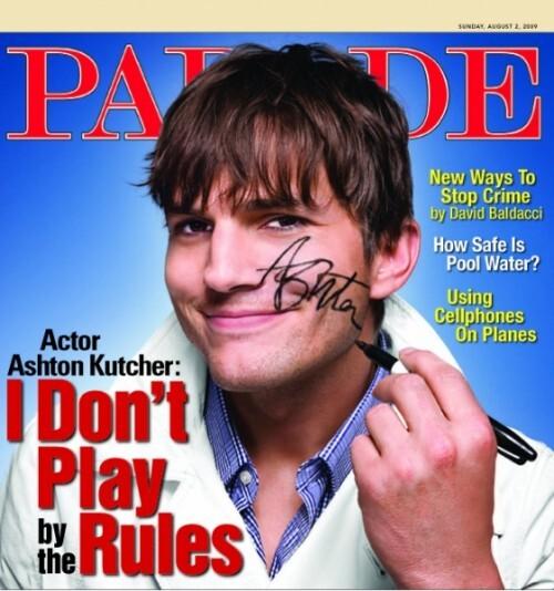 Эштон Катчер в журнале Parade. Август 2009
