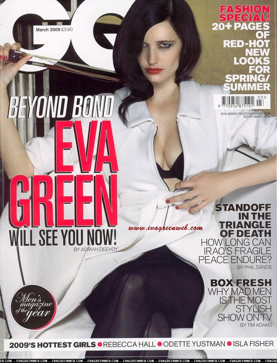 Ева Грин в журнале GQ UK. Март 2009