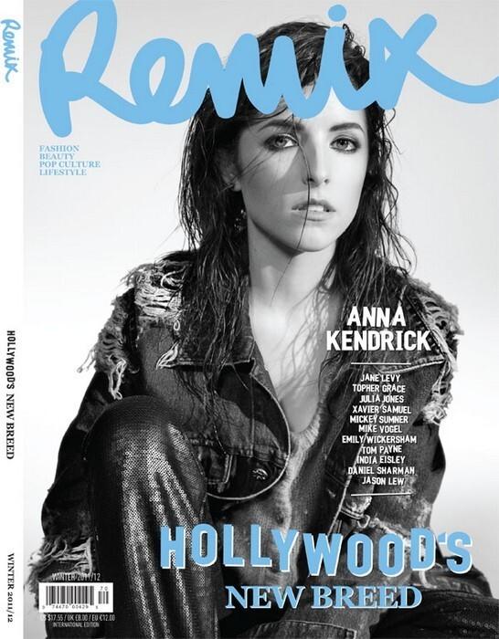 Анна Кендрик в зимнем выпуске журнала Remix и в журнале InStyle. Таиланд. Январь 2012