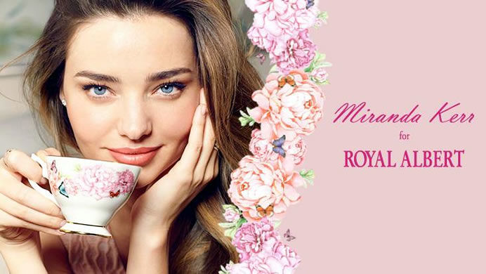 Миранда Керр создала чайные сервизы для Royal Albert