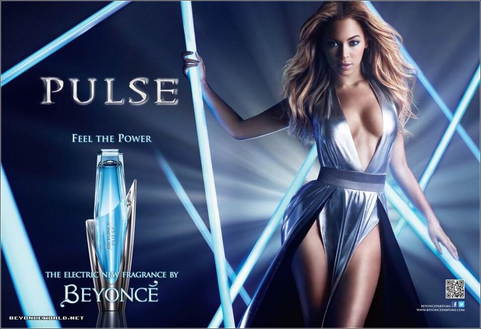 Бейонсе в рекламе своей туалетной воды Pulse