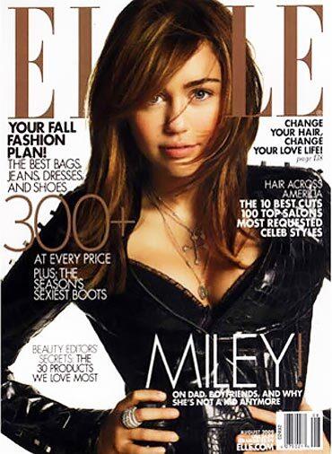 Майли Сайрус в журнале Elle. США. Август 2009