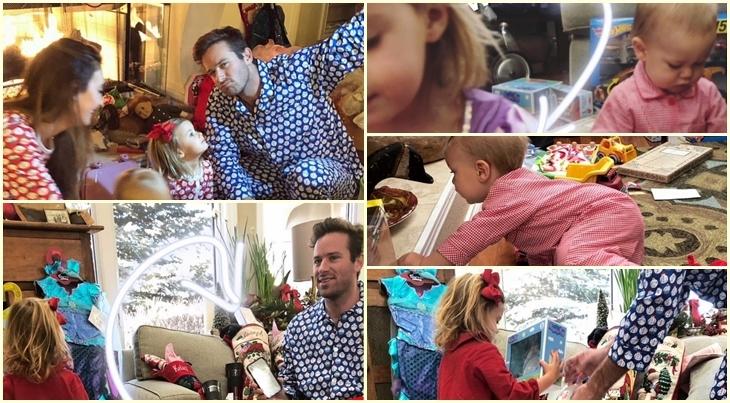 Арми Хаммер поделился трогательными фото семейного Рождества