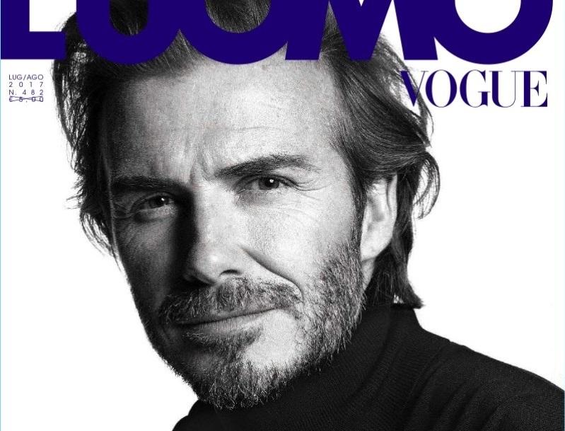 Дэвид Бекхэм украсил обложку нового L'Uomo Vogue