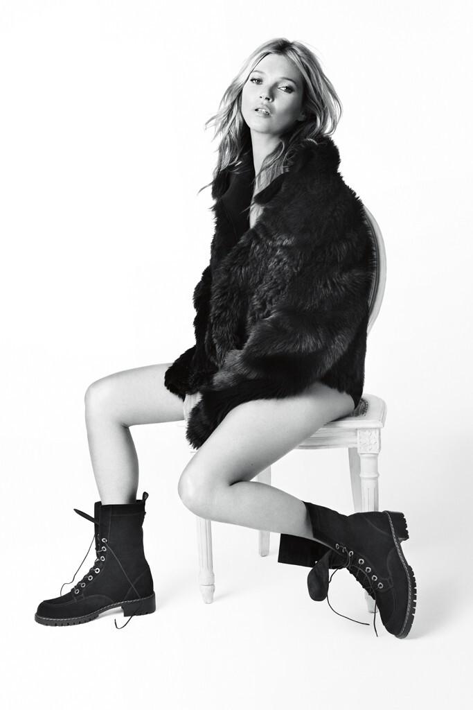 Кейт Мосс в осенне-летней рекламной кампании Stuart Weitzman