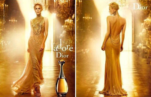 Шарлиз Терон в рекламе аромата J'Adore