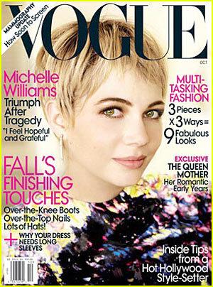 Мишель Уильямс в журнале Vogue. Октябрь 2009