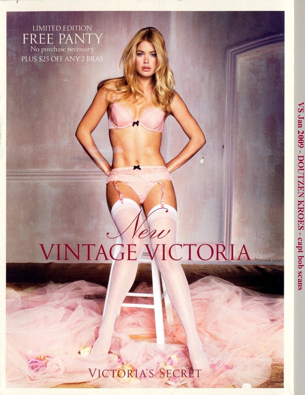 Открытки Даутцен Крез в винтажном белье от Victoria`s Secret