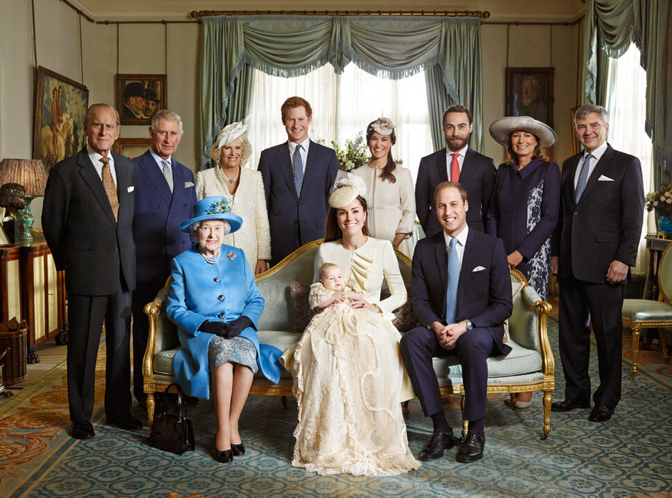 Официальные фото с крестин принца Георга