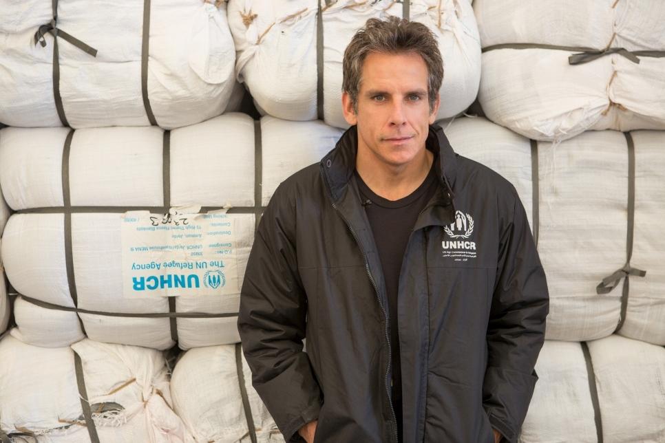 Бен Стиллер навестил беженцев из Сирии