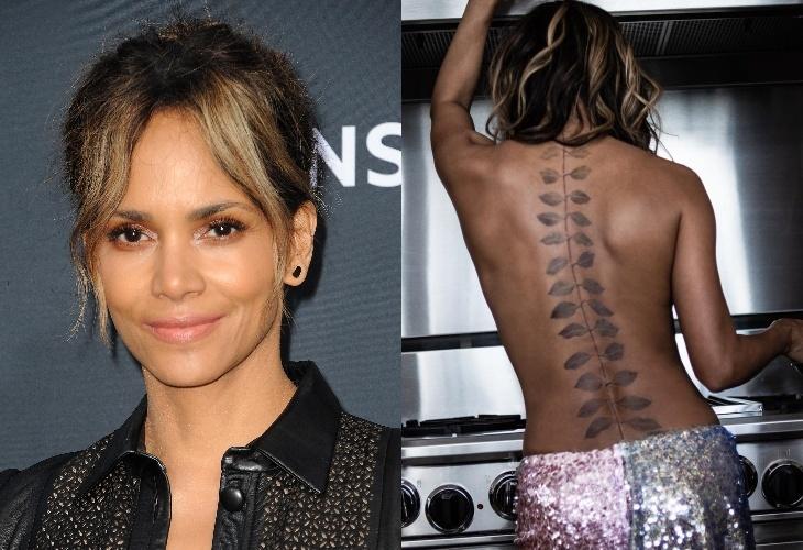 Холли Берри призналась, что ее татуировка на всю спину ненастоящая: «Я пробую разные варианты»