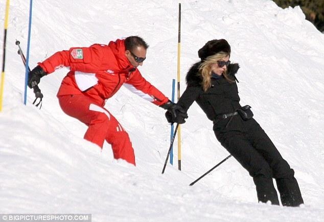 Кейт Мосс катается в Альпах