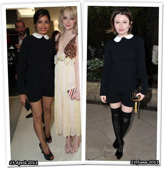 Fashion Battle: Фрида Пинто и Эмили Браунинг