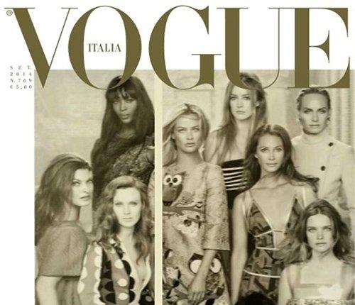 50 супермоделей мира на обложке журнала Vogue Италия. Сентябрь 2014