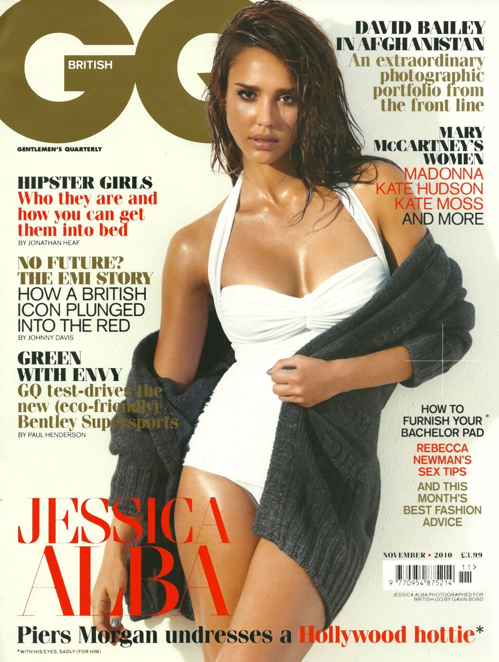 Джессика Альба в журнале GQ UK. Ноябрь 2010