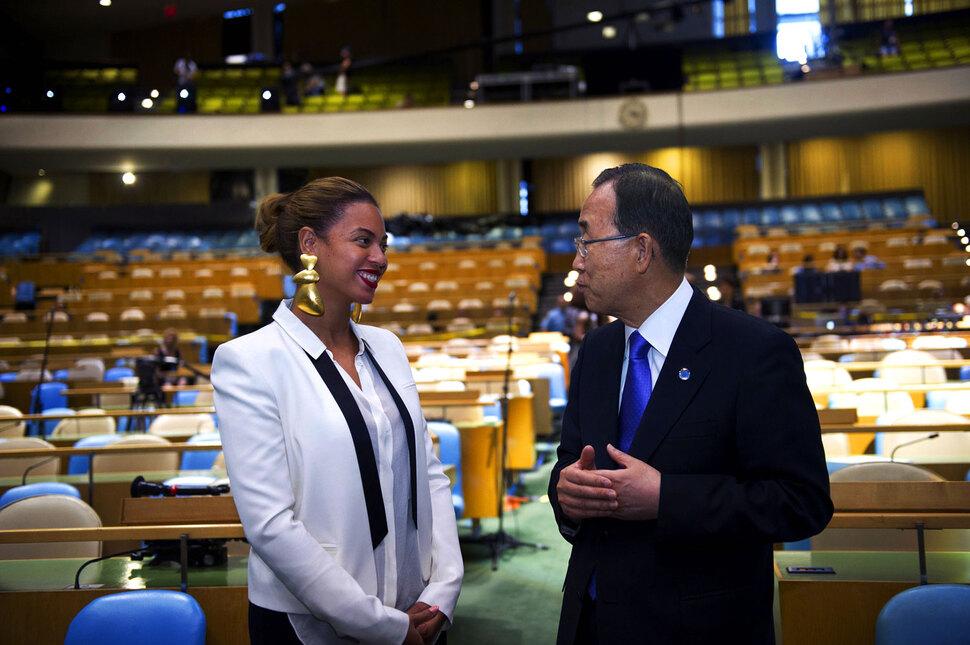 Бейонсе встретилась с Генеральным секретарем ООН