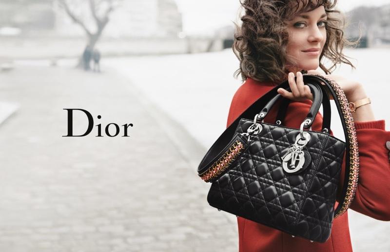 Марион Котийяр снялась в новой рекламной кампании сумок Lady Dior