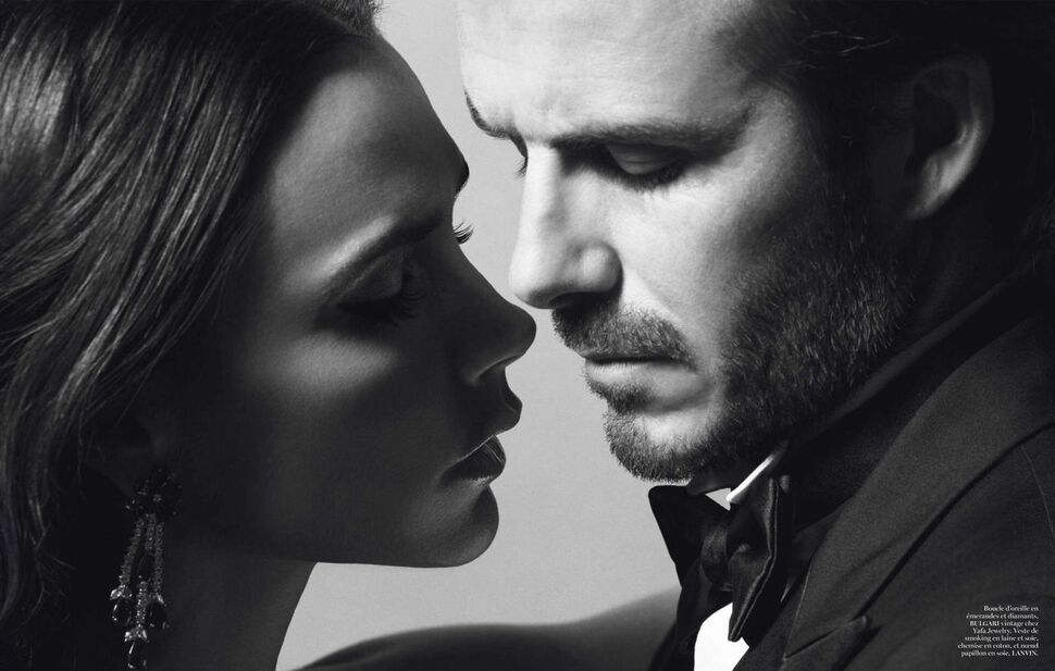 Виктория и Дэвид Бекхэм в журнале Vogue Франция. Декабрь 2013