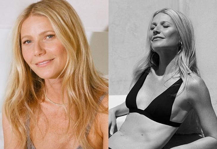 46-летняя Гвинет Пэлтроу снялась в бикини для рекламы купальников