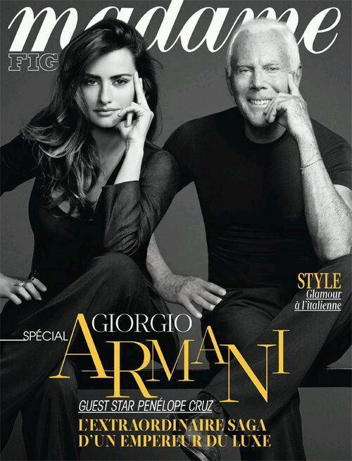 Пенелопа Крус и Джорджио Армани в журнале Madame Figaro. Февраль 2013