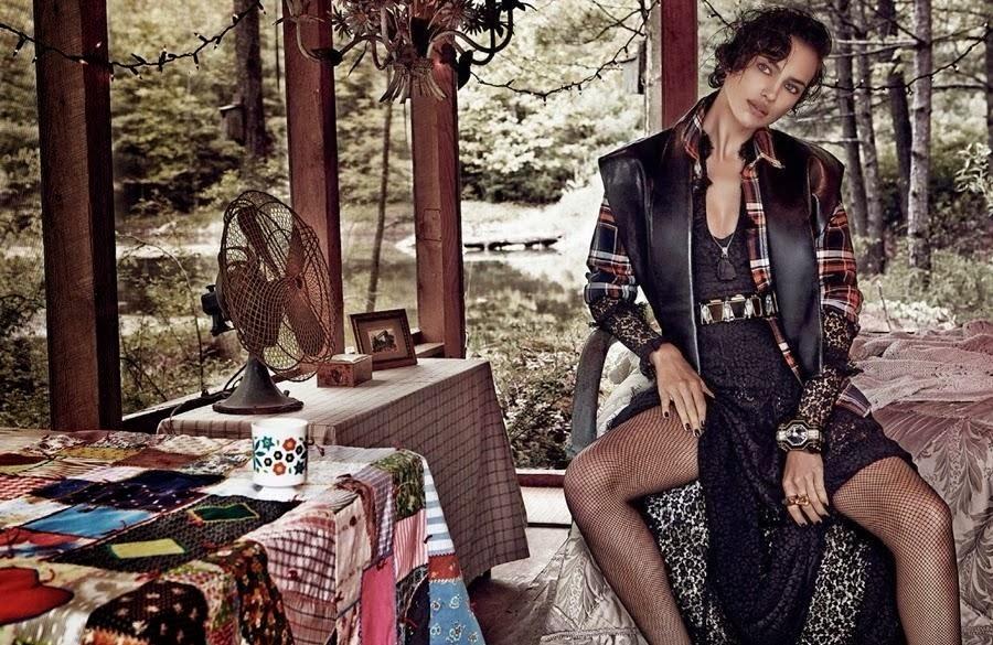 Ирина Шейк в журнале Vogue Испания. Декабрь 2013