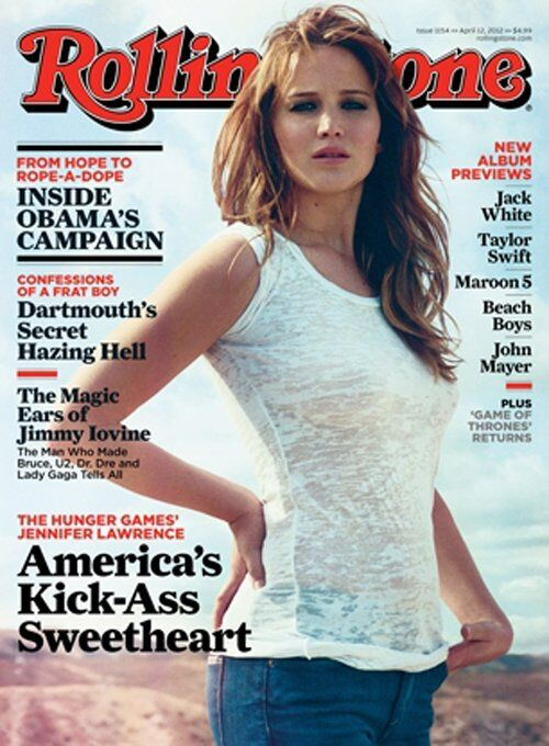 Дженнифер Лоуренс в журнале Rolling Stone. Апрель 2012