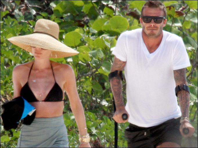 Дэвид и Виктория Бэкхем отдыхают на Кариббах