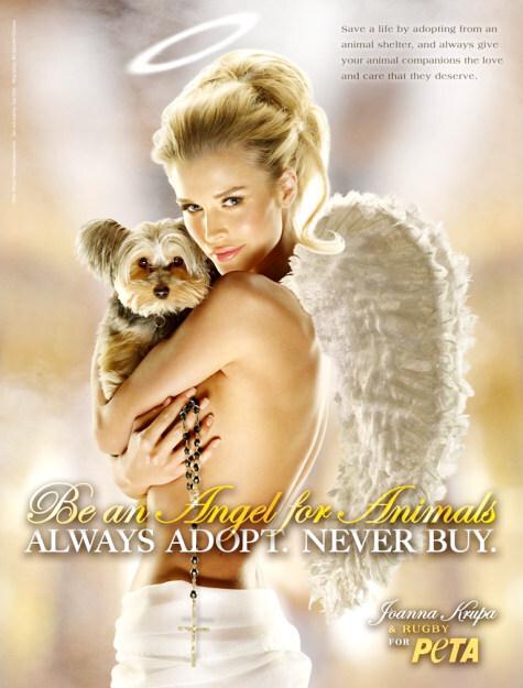 Джоанна Крупа в рекламе PETA