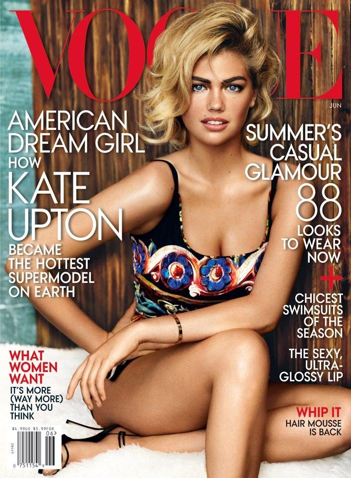Кейт Аптон в журнале Vogue US. Июнь 2013