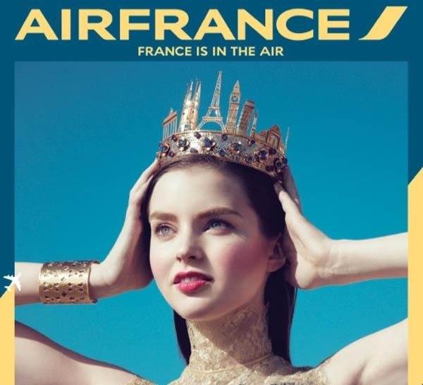 """""""Модная"""" рекламная кампания Air France"""