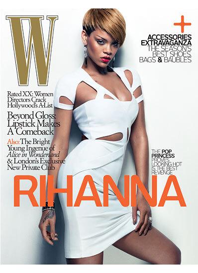 Рианна в журнале W. Февраль 2010