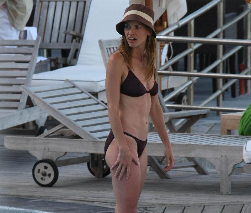 Хилари Суонк в Италии на отдыхе