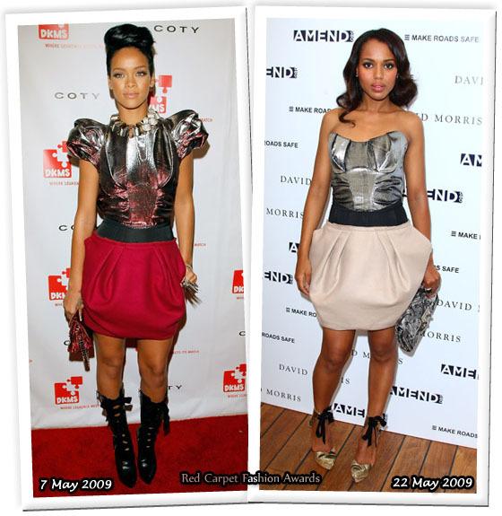 Fashion battle: Рианна и Керри Вашингтон