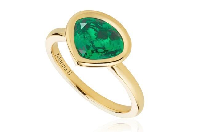 Мила Кунис создала кольцо с изумрудом в честь рождения свой дочери Уайатт