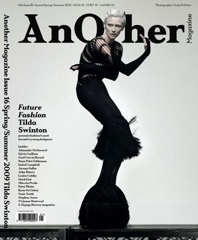 Тильда Cуинтон в журнале Another. Весна-Лето 2009