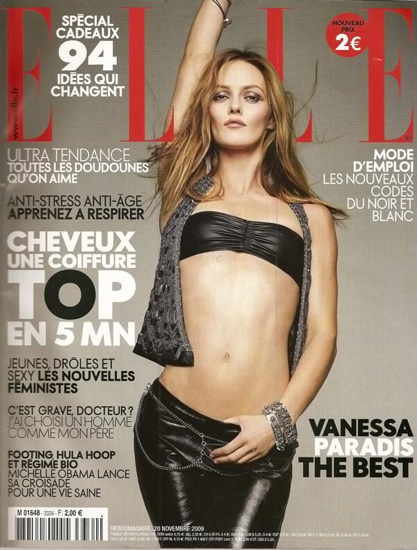 Ванесса Паради в журнале Elle. Франция. Ноябрь 2009