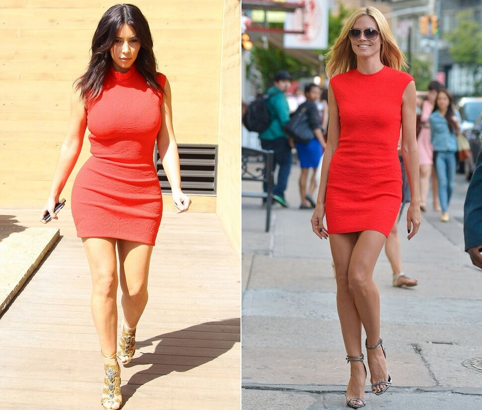 Fashion battle: Ким Кардашян и Хайди Клум